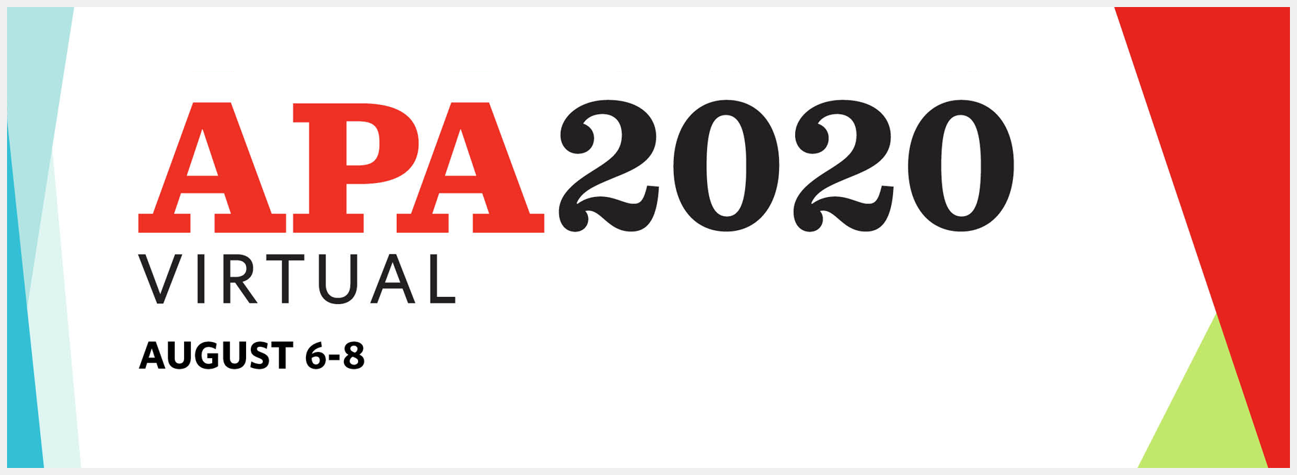 APA 2020 Virtual Convention
